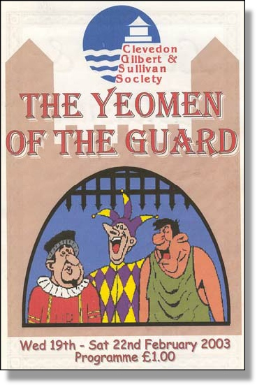 2003 Yeomen of the Guard - Programme